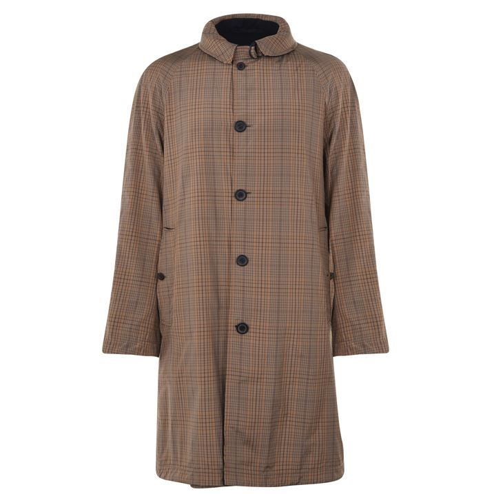 Reversible Checked Coat