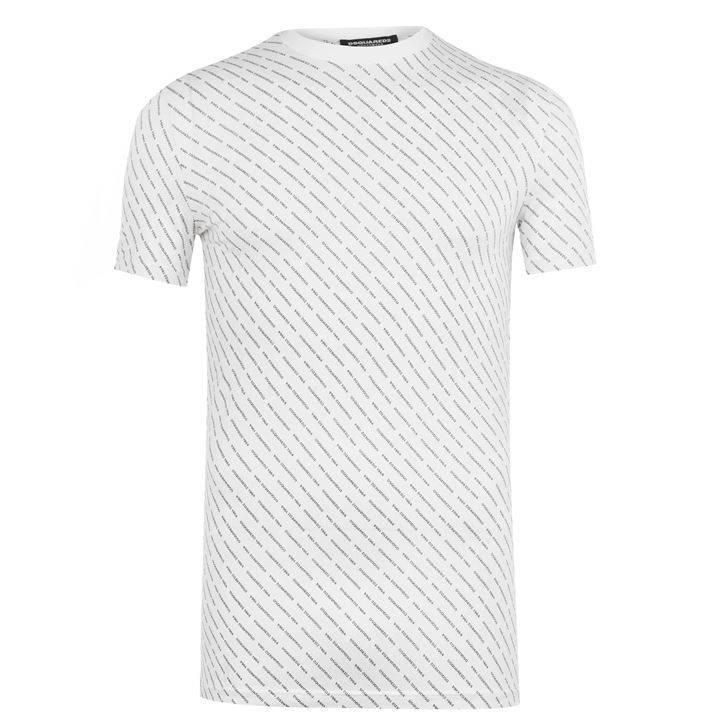 All Over Print Crew Neck T Shirt