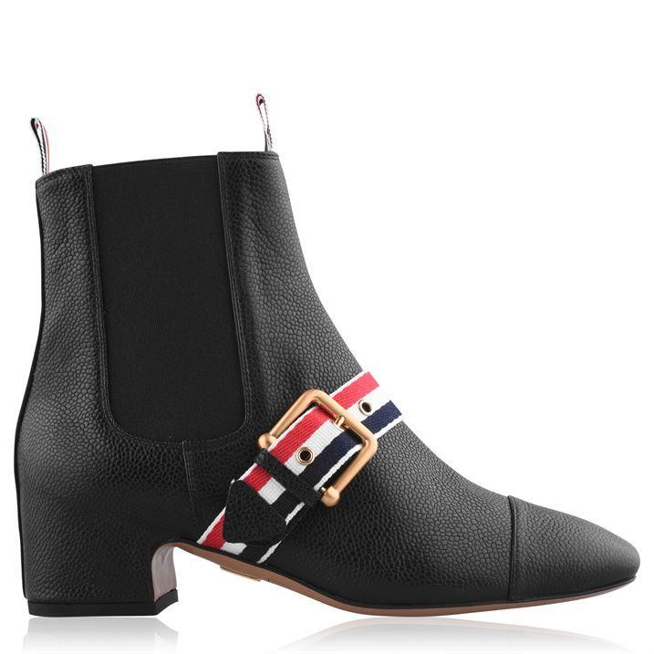 Strap Heel Boots