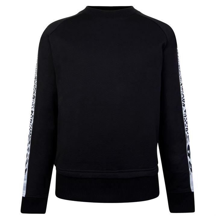 Leopard Print Tape Sweatshirt