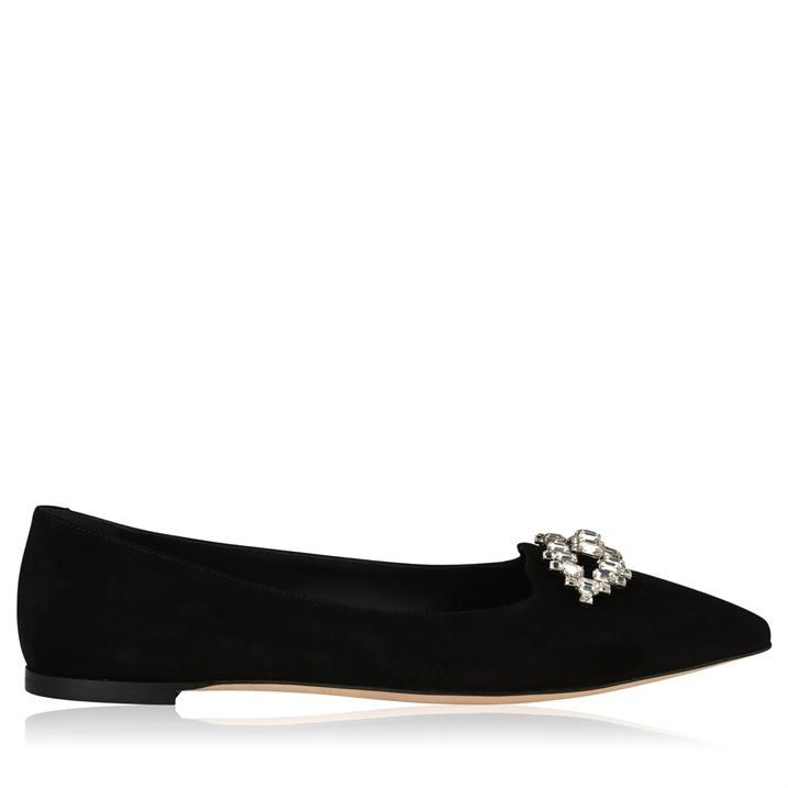 Crystal Suede Flats