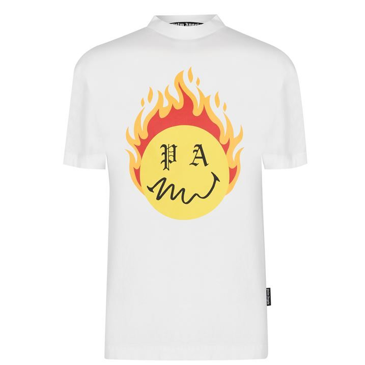 Burning Head Print T Shirt