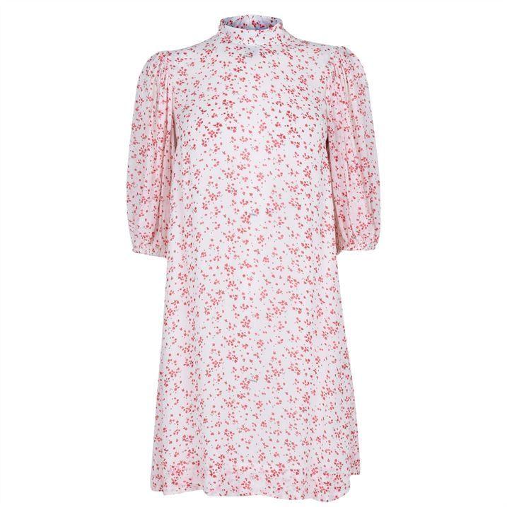 Ganni Print Midi Dress