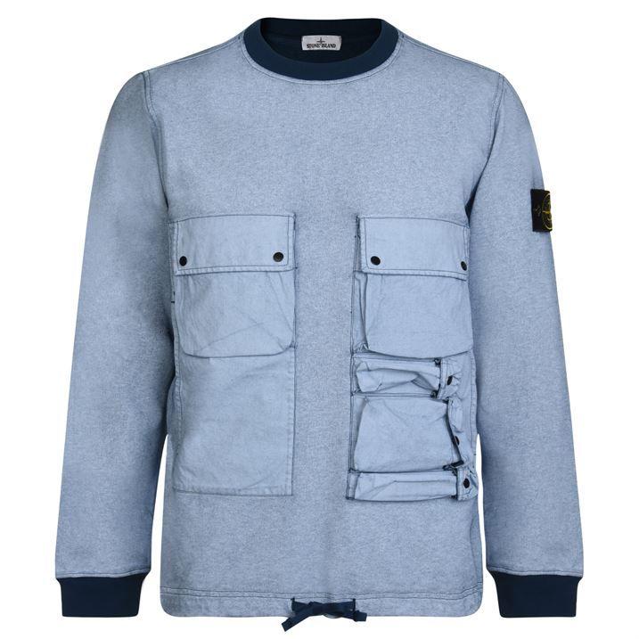 Plated Malfile Fleece Garment Dyed Sweatshirt