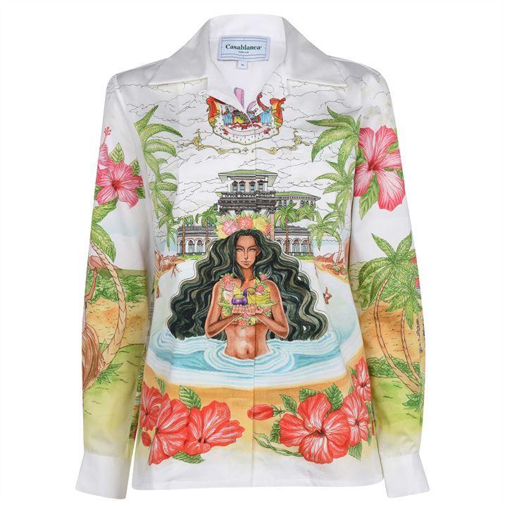 Casablanca Kamehamea Cotton Shirt