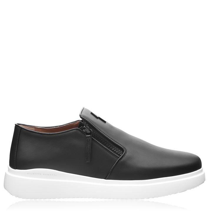 Double Zip Slip On Loafers