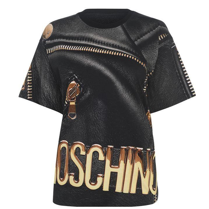 Leather Jacket Print T Shirt