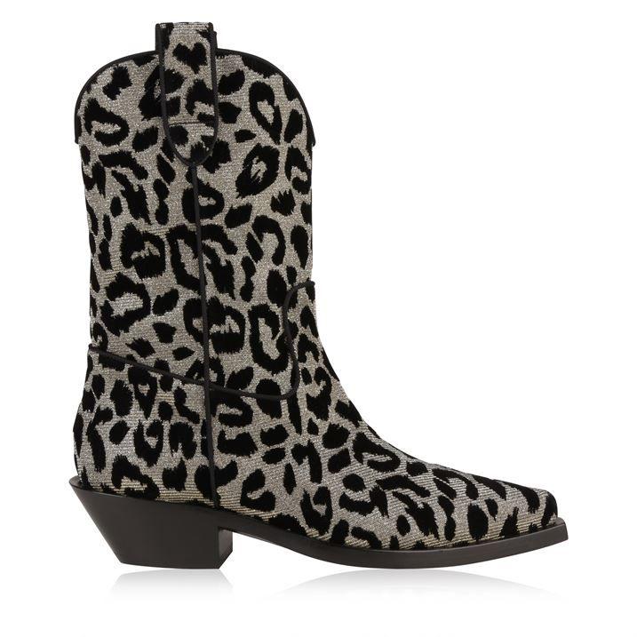 Leopard Print Colour Change Cowboy Boots