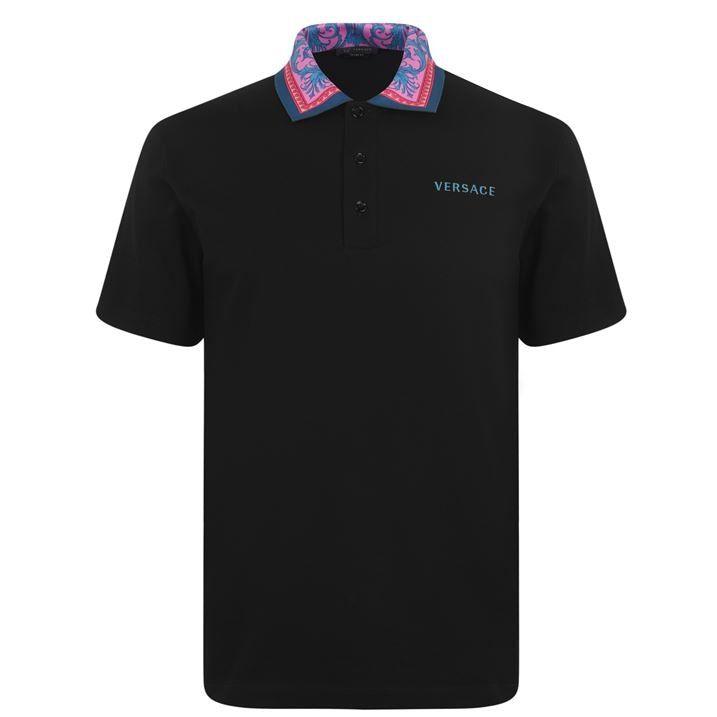 Floral Collar Polo Shirt