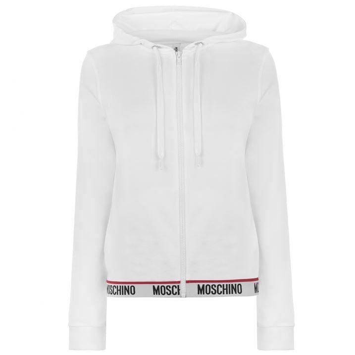 Logo Band Hooded Zip Sweatshirt