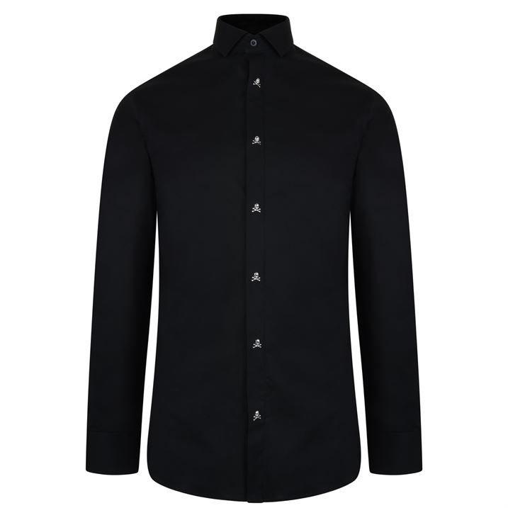 Skull Button Long Sleeve Shirt