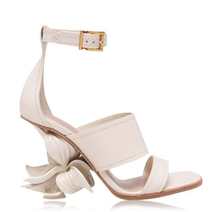 Flower 90h Heeled Sandals