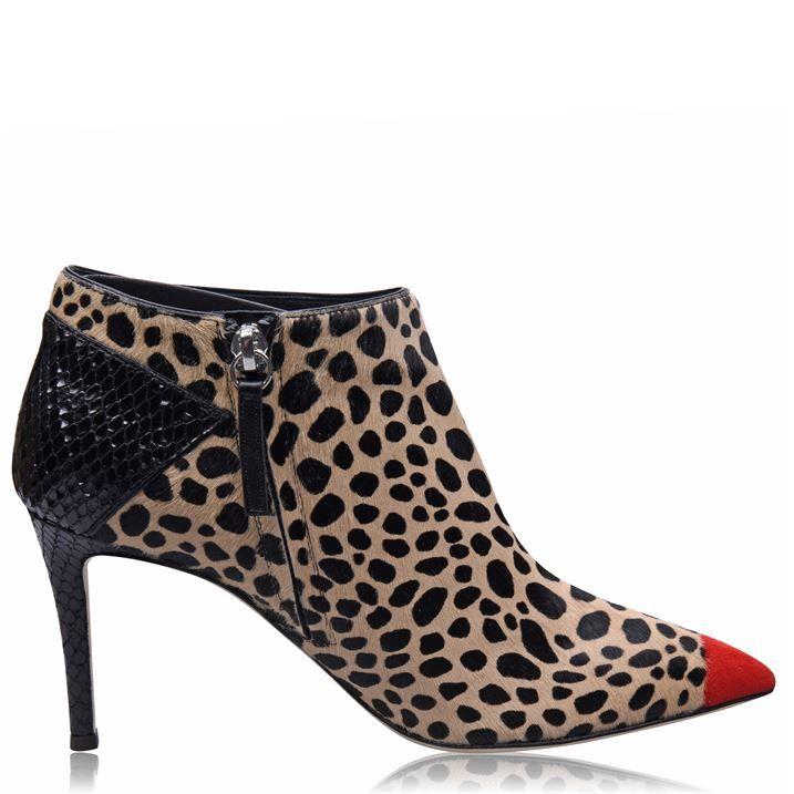 Leopard Low Boots