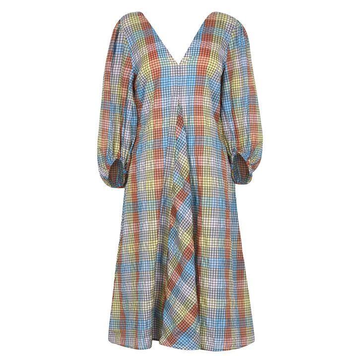 Seersucker Sleeve Dress