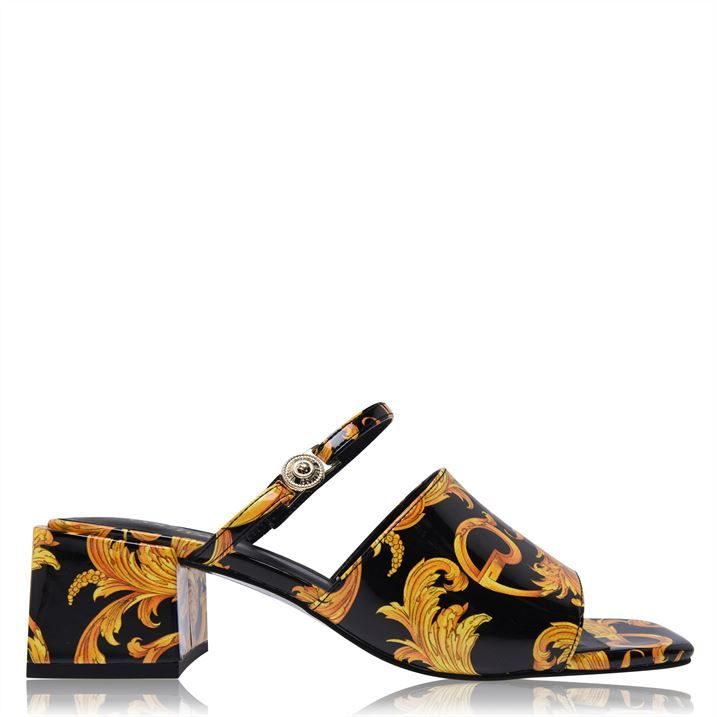 Baroque Print Heel Sandals