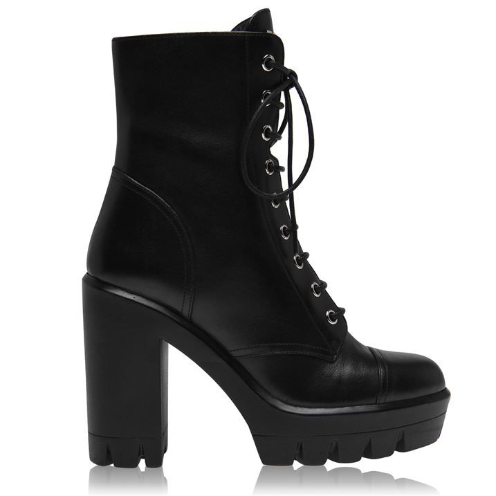 Combat Flat Ankle Boots