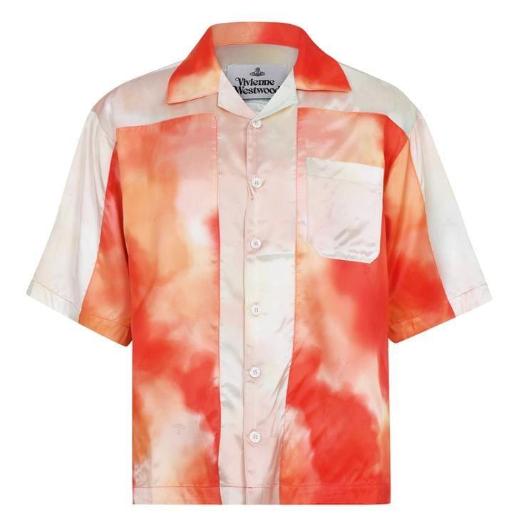 Bowling Print Short Sleeve Shirt