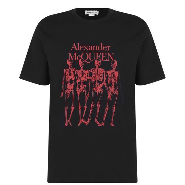 Skeleton Print T Shirt