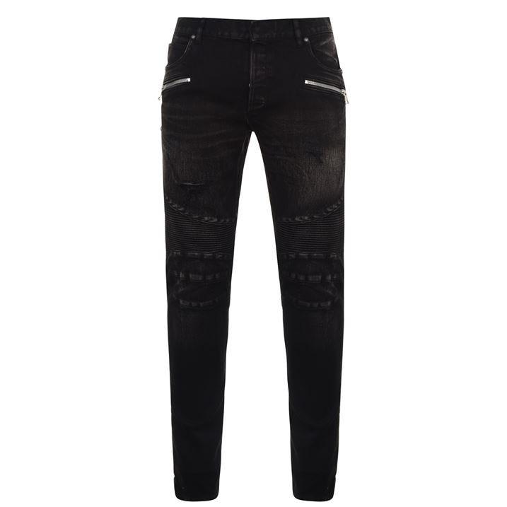 Black Cotton Denim Jeans