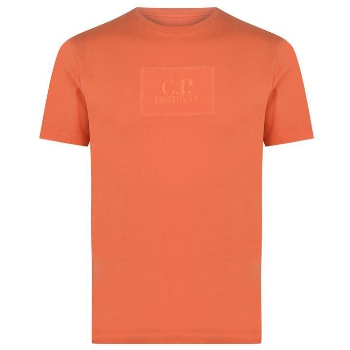 Embroidered Box Logo T Shirt