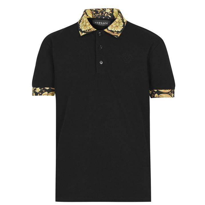 Baroque Logo Polo Shirt Junior Boys