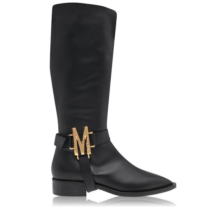 M Logo Knee High Boots