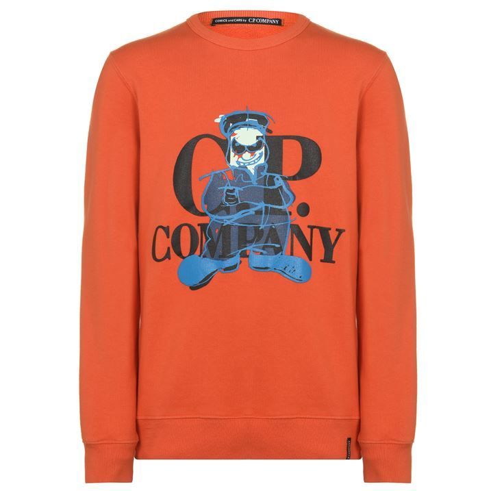 Junior Boys Comic Crew Neck Sweatshirt