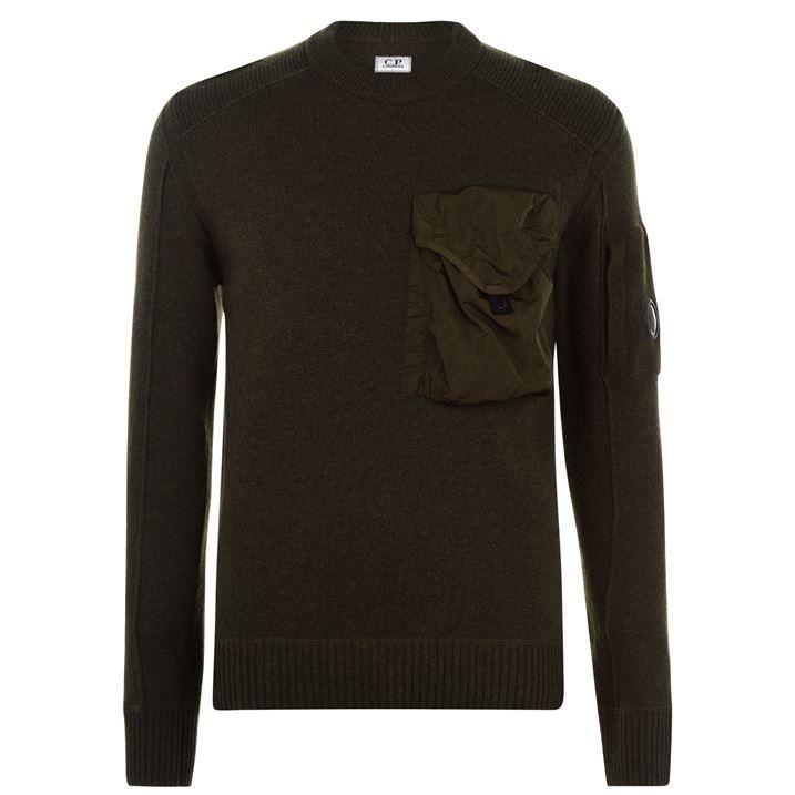 Lens Pocket Knitted Sweatshirt
