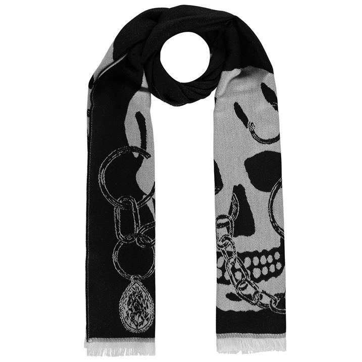 Chained Skull Scarf