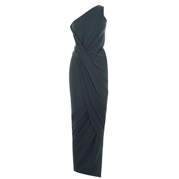 Angled Shoulder Dress