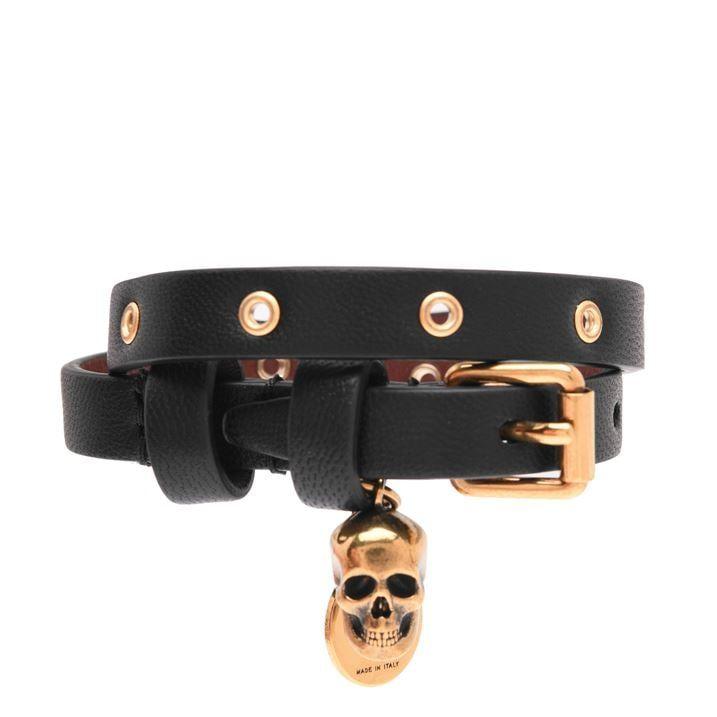 Wrap Stud Skull Bracelet