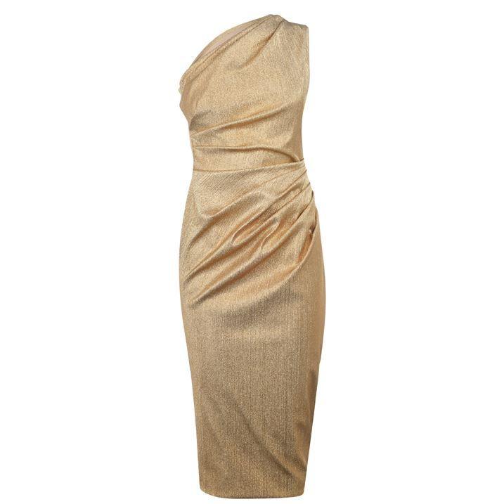 Lame 1 Shoulder Dress