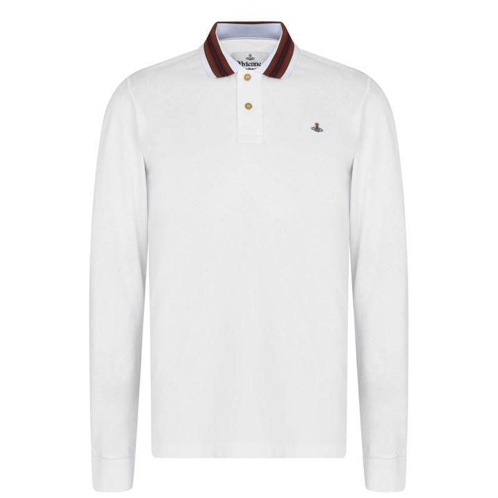Stripe Long Sleeve Polo