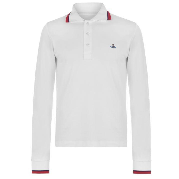 Tipped Long Sleeve Polo Shirt