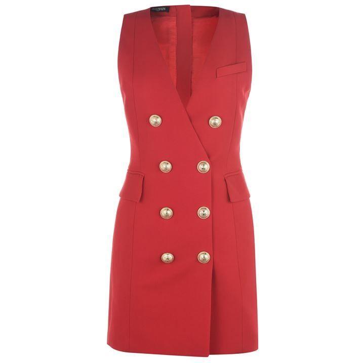 Sleeveless Button Dress