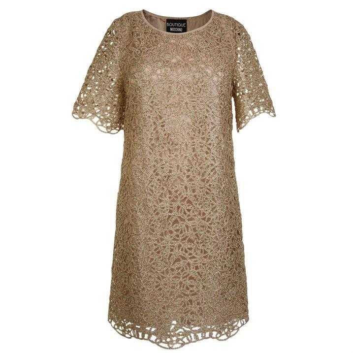 Metallic Cut Out Dress