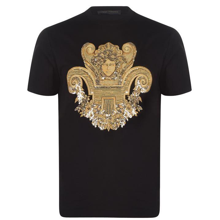 Medusa Embellishment T Shirt