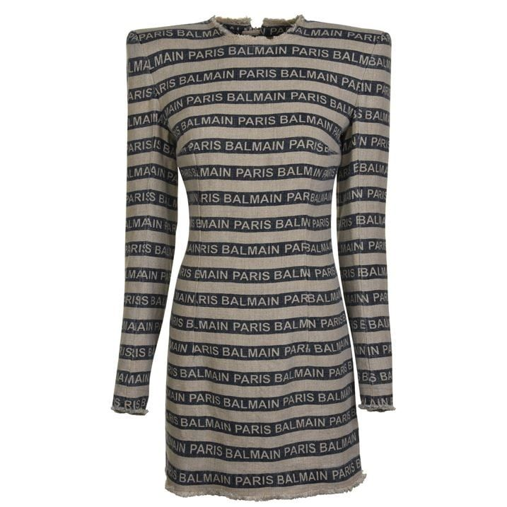 Logo Linen Dress