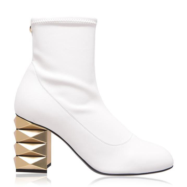 Stretch Diamond Heel Boots