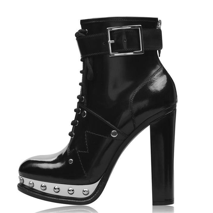 Platform High Leather Boots