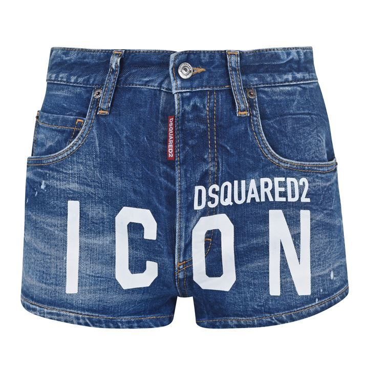 High Waisted Denim Icon Hot Pants