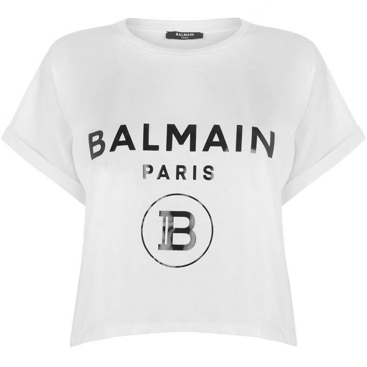 Crop Logo T Shirt