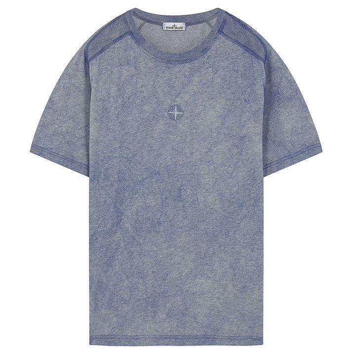 Dust Colour Mélange Cotton Jersey T Shirt