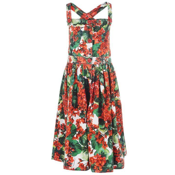Floral Cross Strap Dress