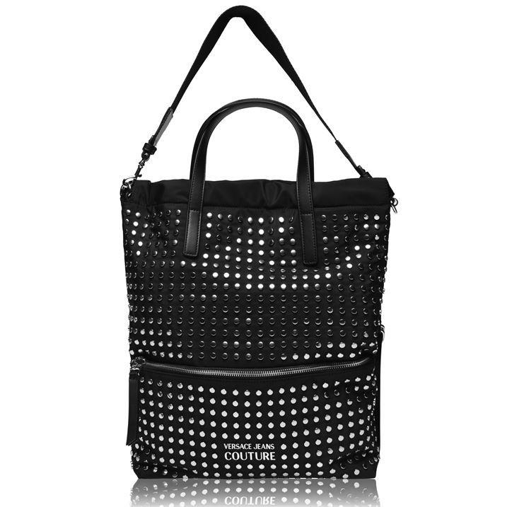 Nylon Studded Shopping Bag