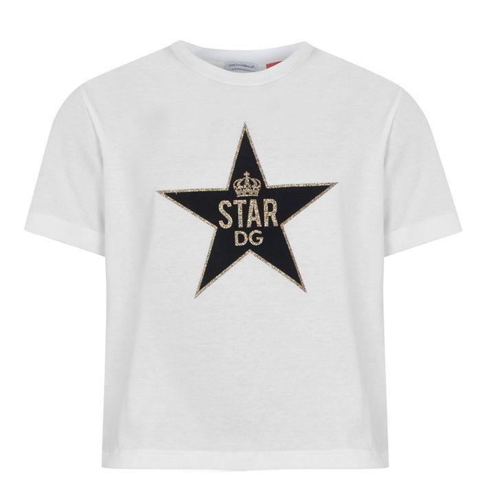Junior Girls Glitter Star T Shirt