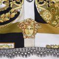 Barocco Mosaic Print Silk Bralette Top