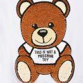 Sequin Bear Zip Hoodie