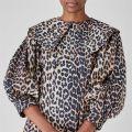 Leopard Print Poplin Mini Dress