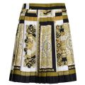 Stamp Pleated Skirt